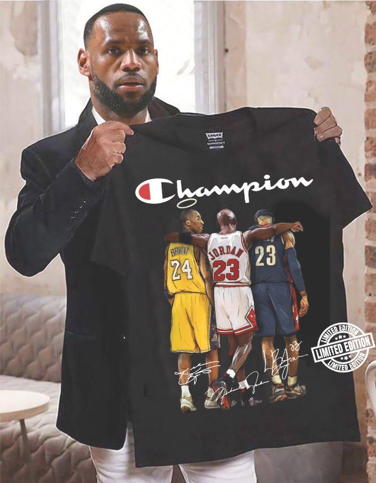 Champion 24 23 singnature shirt