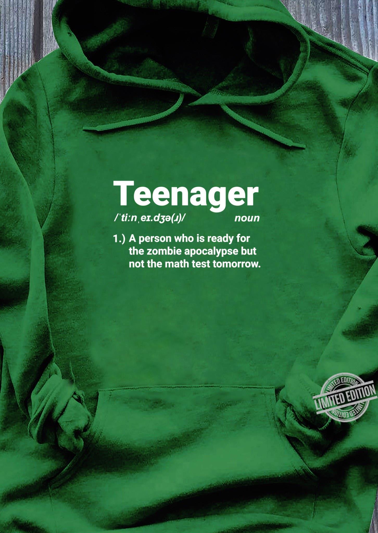 Teenager Definition Auf Zombies vorbereitet aber nicht Mathe Shirt hoodie