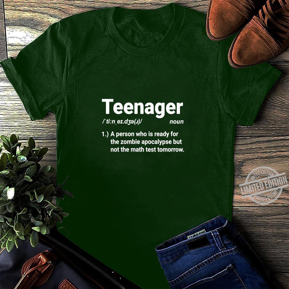 Teenager Definition Auf Zombies vorbereitet aber nicht Mathe Shirt long sleeved