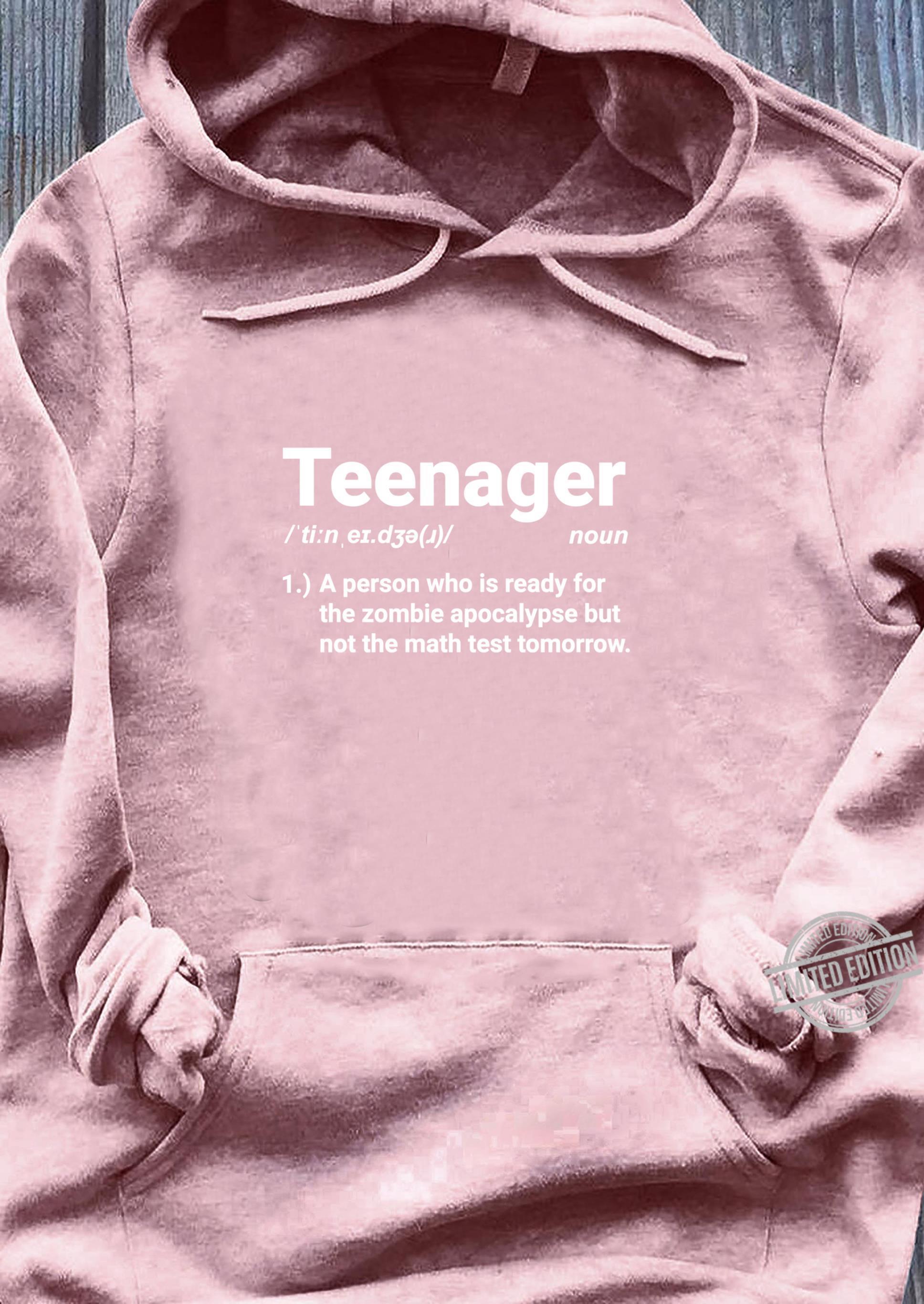Teenager Definition Auf Zombies vorbereitet aber nicht Mathe Shirt sweater