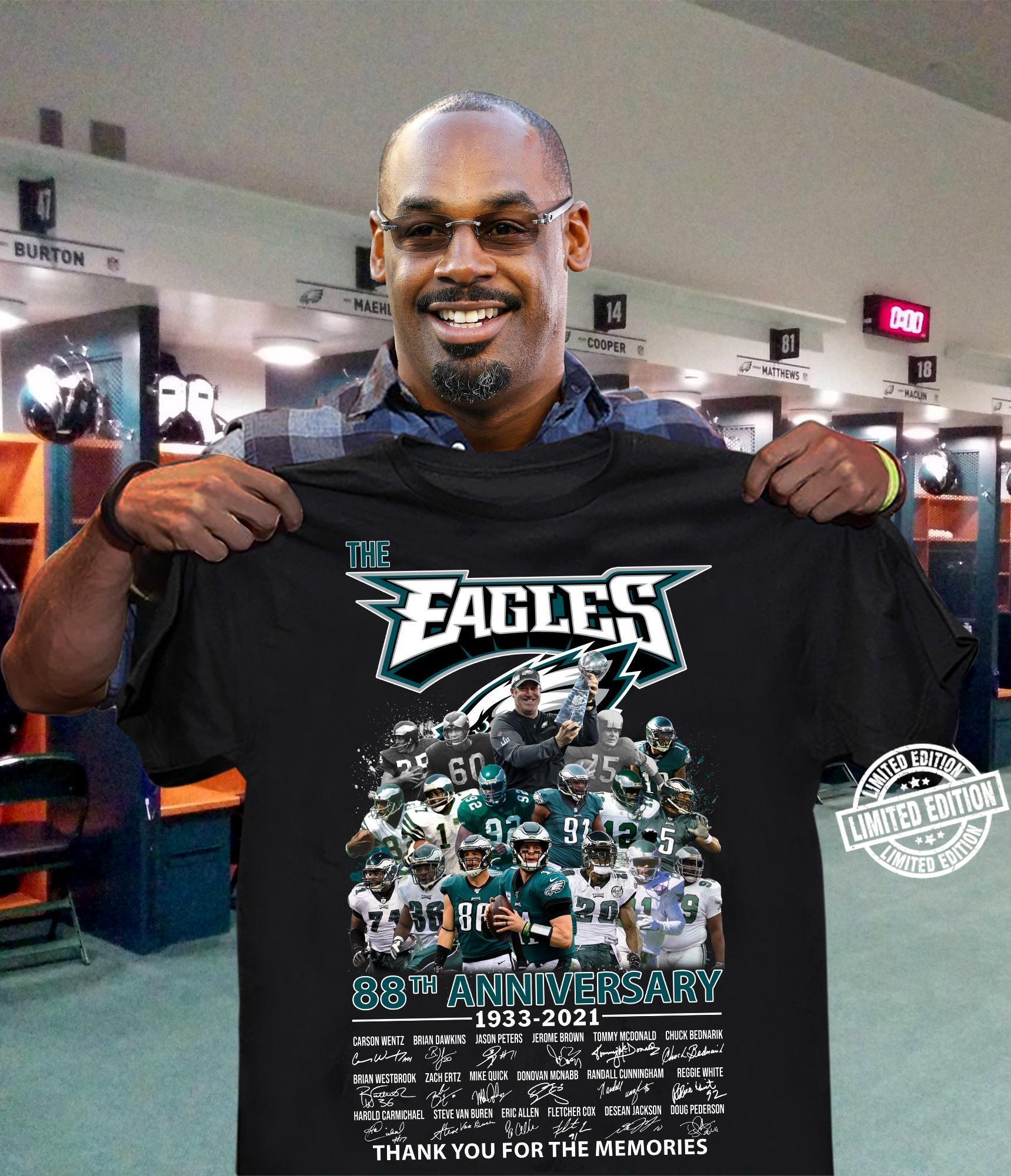 The Eagles 88th anniversary 1933-2021 thank you for the memories shirt