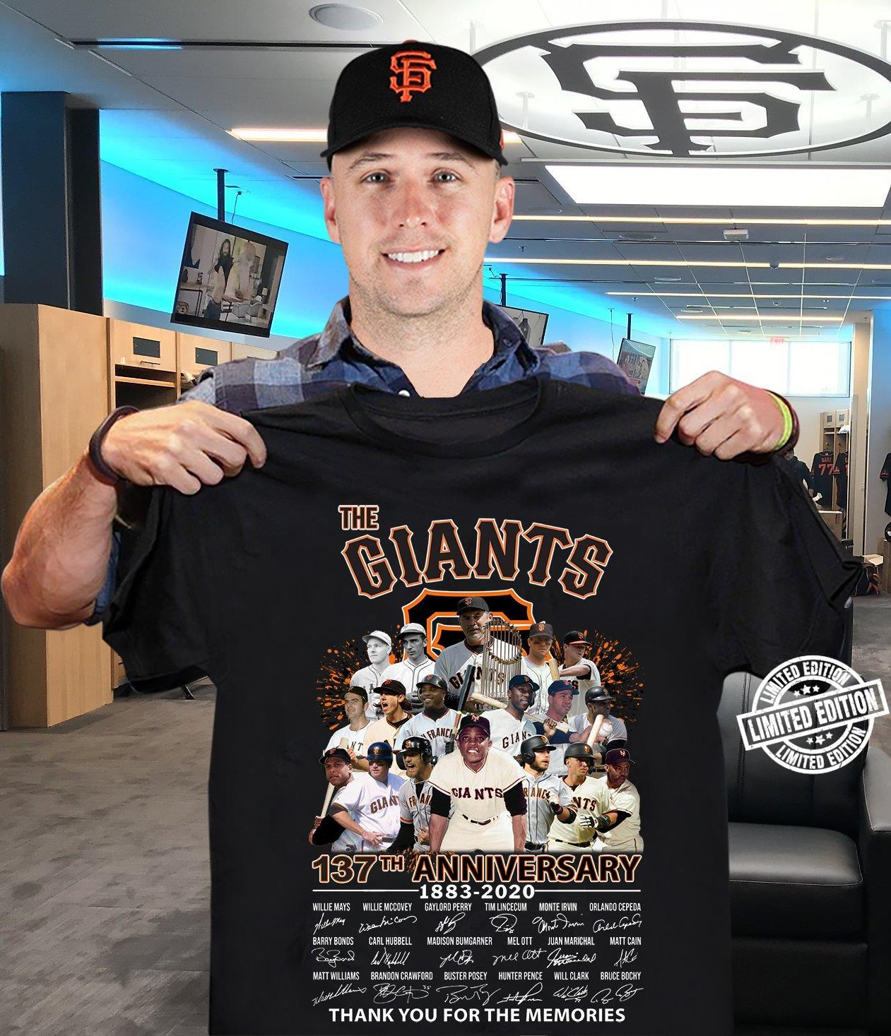 The Giants 13th Annivesary shirt