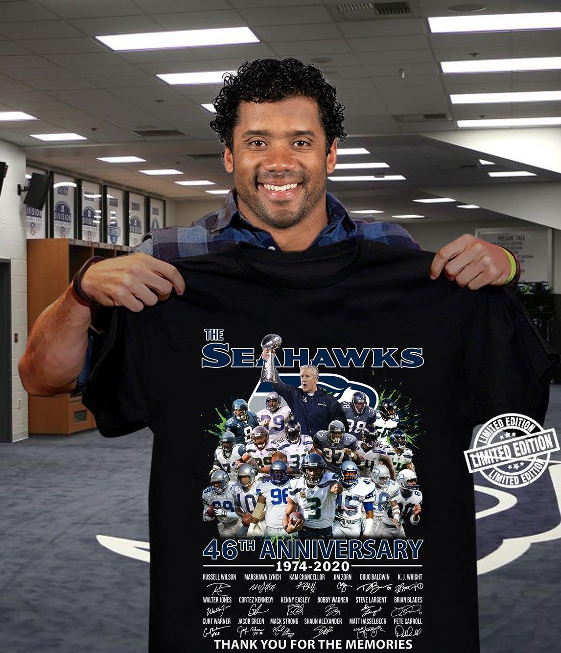 The Seahawks 46th anniversary 1974-2020 thank you for the memories shirt