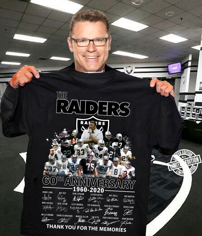 The raiders 60th anniversary 1960-2020 signature shirt