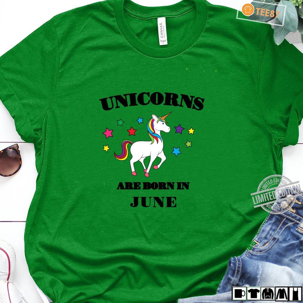 Unicorns are Born In June Shirt Birthday Unicorn Langarmshirt Shirt long sleeved
