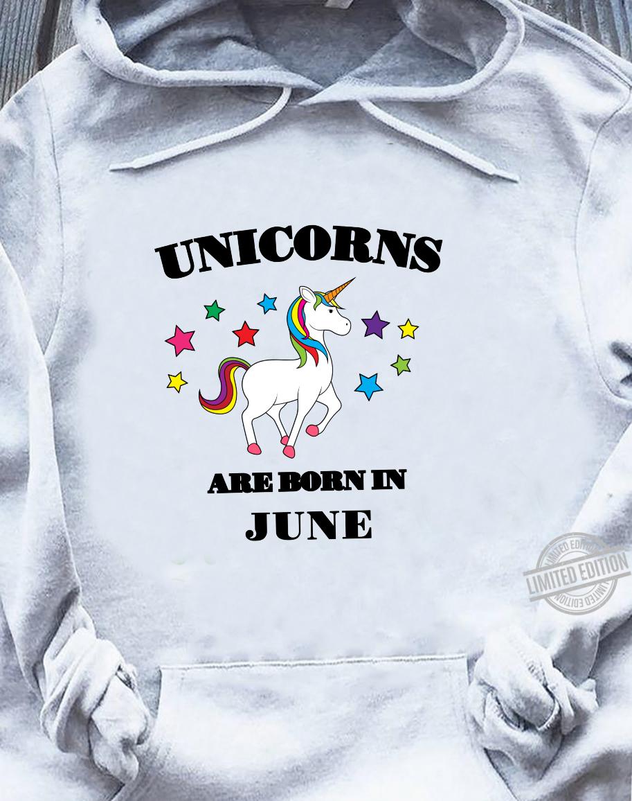 Unicorns are Born In June Shirt Birthday Unicorn Langarmshirt Shirt sweater