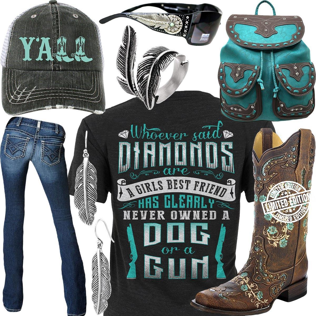 Whoever said diamonds are a girls best friend has shirt